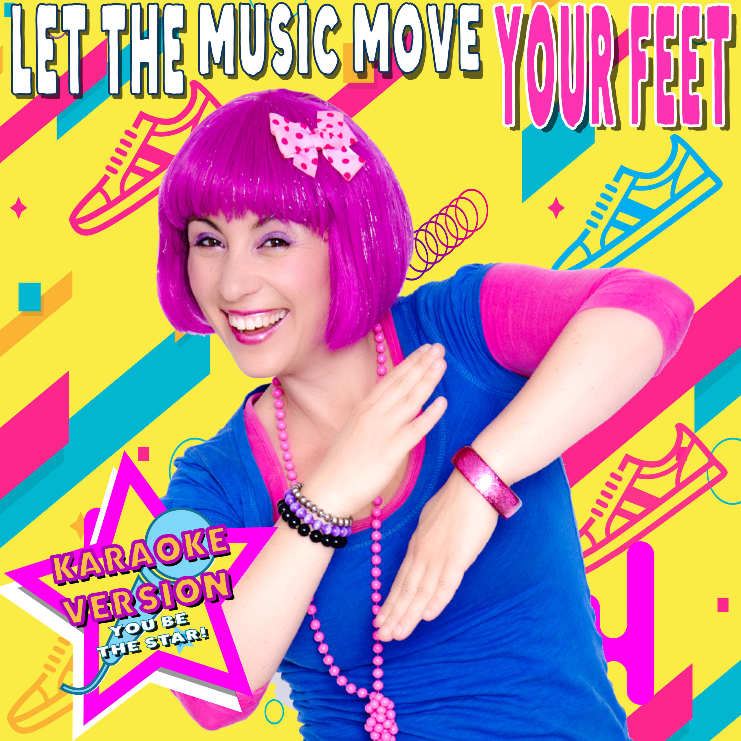 Let the music move your feet karaoke version debbie doo music artwork