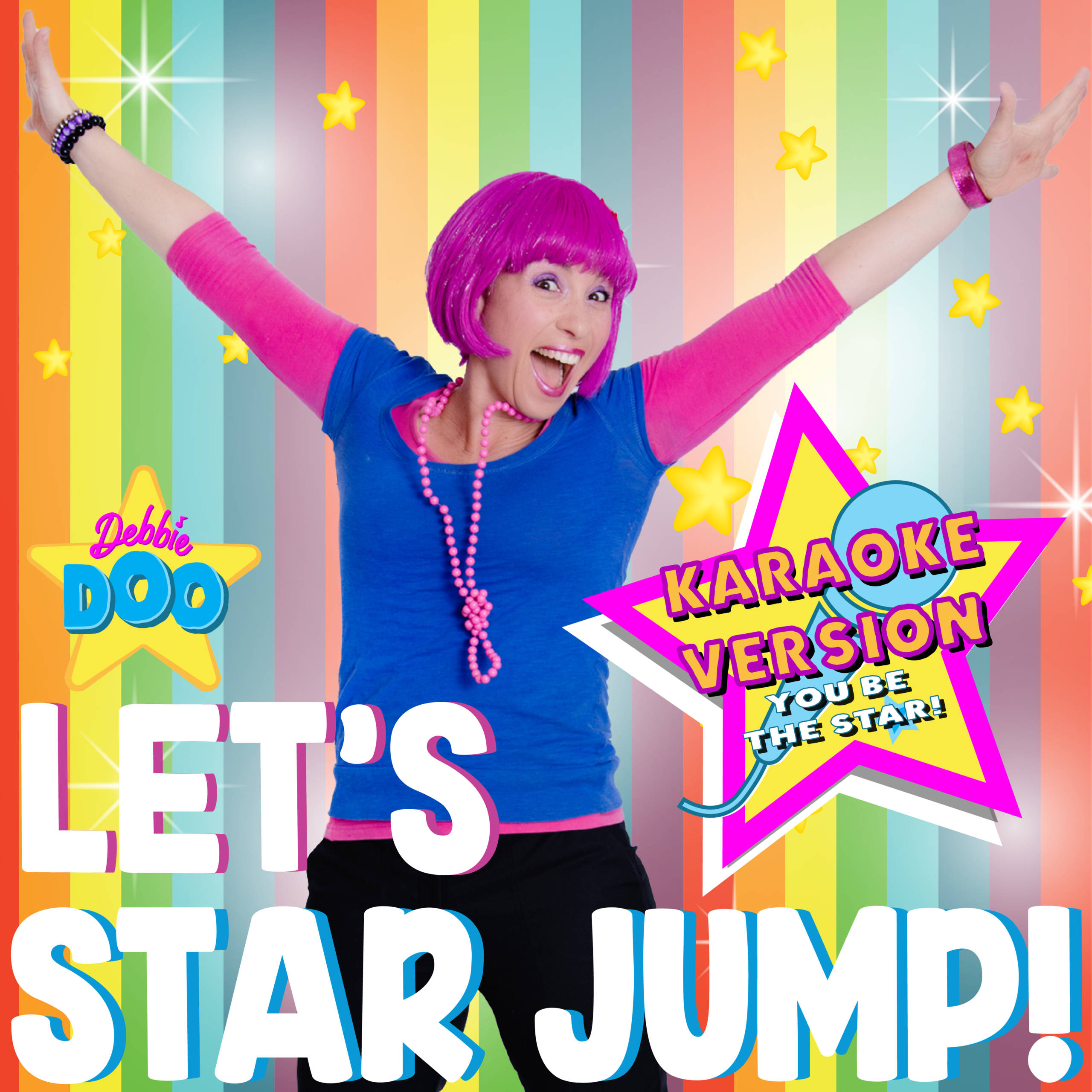 Lets Star Jump Karaoke Version Music Artwork